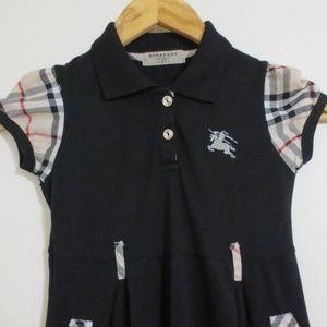 Burberry London Polo Dress-Black Color - Girls 4T